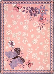 "Flower Fields Rug - Rectangle - 3'10"" x 5'4"" - JC1654B - Joy Carpets"