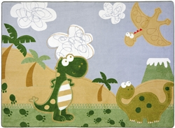 Dino Fun Rug - JC1655XX - Joy Carpets
