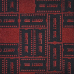 "Admit One Rug - Burgundy - Rectangle - 7'8"" x 10'9"" - JC1666D03 - Joy Carpets"