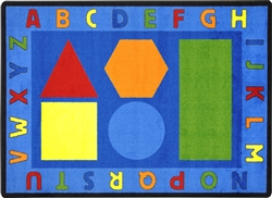 Alphabet Shapes Rug - JC1670XX - Joy Carpets