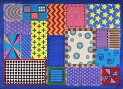 Crazy Quilt Sensory Rug - JC1779XX - Joy Carpets
