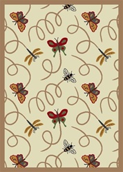 "Wing Dings Rug - Beige - Rectangle - 3'10"" x 5'4"" - JC432B05 - Joy Carpets"