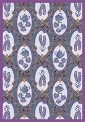 "Ribbons and Bows Rug - Blue - Rectangle - 5'4"" x 7'8"" - JC433C01 - Joy Carpets"