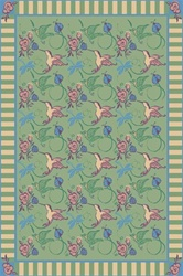 "Flights of Fantasy Rug - Green - Rectangle - 3'10"" x 5'4"" - JC435B03 - Joy Carpets"