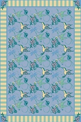 "Flights of Fantasy Rug - Blue - Rectangle - 5'4"" x 7'8"" - JC435C01 - Joy Carpets"