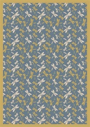 "Dragonflies Rug - Blue - Rectangle - 3'10"" x 5'4"" - JC437B01 - Joy Carpets"