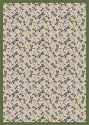 "Dragonflies Rug - Beige - Rectangle - 5'4"" x 7'8"" - JC437C04 - Joy Carpets"