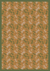 "Dragonflies Rug - Gold - Rectangle - 5'4"" x 7'8"" - JC437C05 - Joy Carpets"