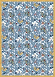 "Flower Garden Rug - Blue - Rectangle - 3'10"" x 5'4"" - JC438B01 - Joy Carpets"