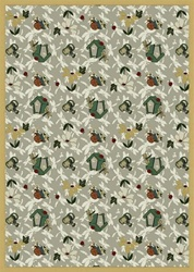 "Flower Garden Wall-to-Wall Carpet - Taupe - 13'6"" - JC438W06 - Joy Carpets"