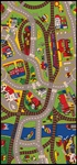 "Ride The Train Play Rug - Rectangle - 36"" x 80"" - LC142 - Learning Carpets"