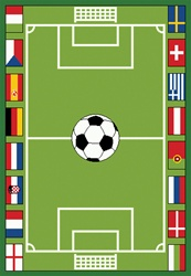 "Soccer Game Play Rug - Rectangle - 36"" x 52"" - LC155 - Learning Carpets"