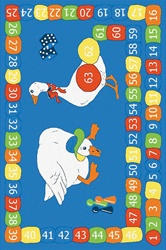 "Goose On The Loose Play Rug - Rectangle - 40"" x 60"" - LC175 - Learning Carpets"