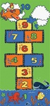 "From Sea To Sky Play Rug - Rectangle - 36"" x 80"" - LC182 - Learning Carpets"