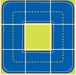"Trike Tracks - Squares - 6'6"" 9 - 26"" Squares - LC204 - Learning Carpets"