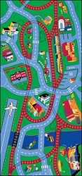 Highways & Byways Rug - Rectangle - 4' x 7' - LCCPR454 - Learning Carpets