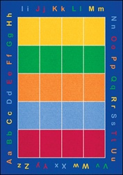ABC Squares Rug - Rectangle - 9' x 12' - LCCPR456 - Learning Carpets
