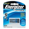 Energizer Ultimate Lithium AAA Batteries 2 Pack 9 times longer