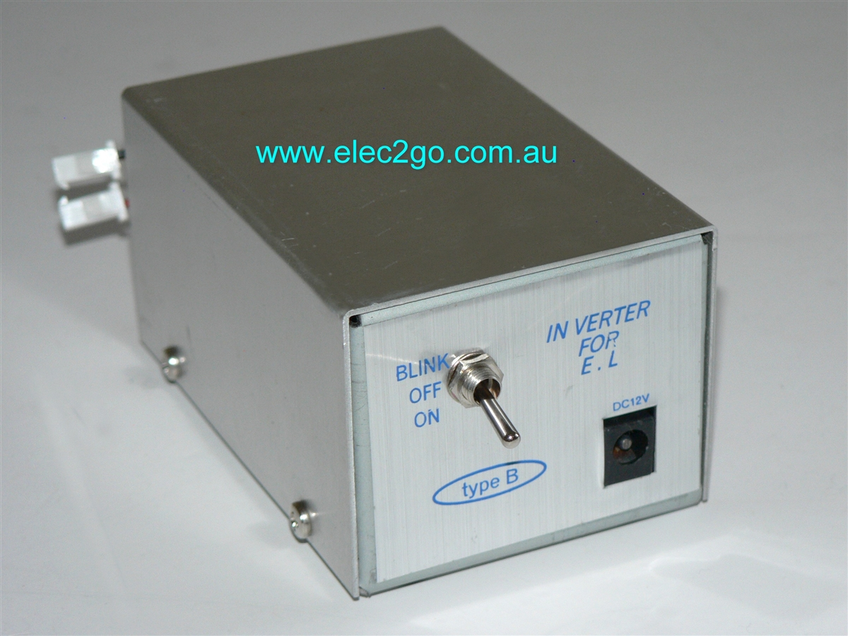 Inverter for electroluminescent wire and electroluminescent flat ...