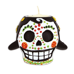 Day of the Dead Female Tea Light Holder