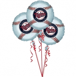 Minnesota Twins 3-Pack Balloons | Party Supplies