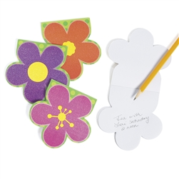 Bright Glitter Flower Notepads | Party Supplies