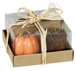 Harvest 4-Pack Candles | Party Supplies