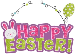 Happy Easter Sign w/Wire Hanger | Party Supplies