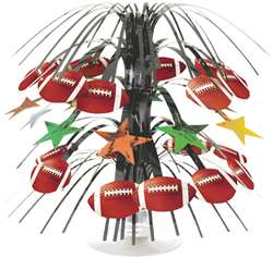 Championship Football Mini Foil Cascade Centerpiece | Football Party Supplies