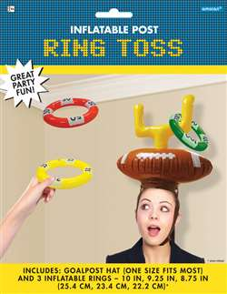 Inflatable Post Ring Toss | Football Party Games