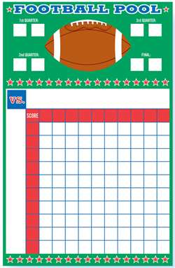 Football Pool w/Ribbons | Football Party Games