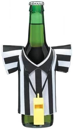 Foam Drink Kozy with Plastic Whistle | Football Party Supplies