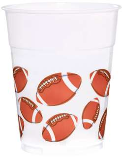 Football Fan Plastic Cups | Party Supplies