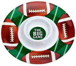 Football Chip & Dip Plastic Tray | Party Supplies