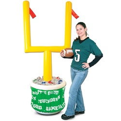Inflatable Goal Post Cooler with Football