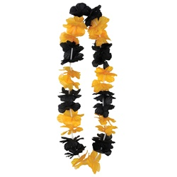 Black & Golden Yellow Silk 'N Petals Party Lei