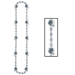 Silver Football Beads