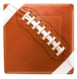 "Football Fans 7"" Square Plates 