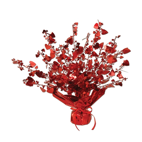 Red heart centerpiece valentine s day table decorations