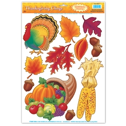 Thanksgiving clings thanksgiving decorations for sale - Thanksgiving decorations on sale ...