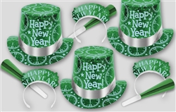 NEW Green & Silver New Year's PRISMATIC PINE Assortment