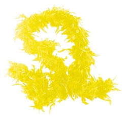 Yellow Fancy Feather Boa | Party Supplies
