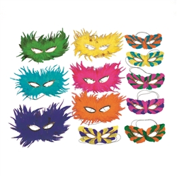 Assorted Feather Half Masks | Party Supplies
