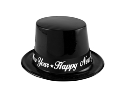 Black & White Plastic Hats | New Year's Eve Party Favors