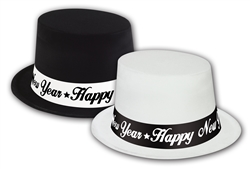 Black & White Top Hats | New Year's Eve Party Favors