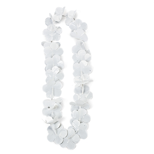 White flower lei new years eve party favors white flower lei mightylinksfo Images