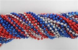 Red, Silver & Blue Party Beads