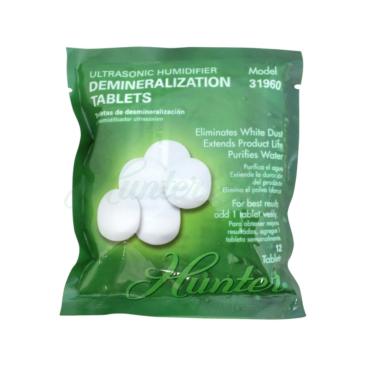 Hunter Ultrasonic Humidifier Demineralization Tablets 12 Pack (31960) #18491A