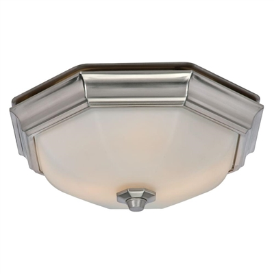 Huntley Decorative Bathroom Exhaust Fan with LED Bulbs Included (80213)
