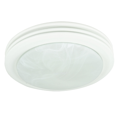 Saturn Decorative Bath Fan with Light in Satin White